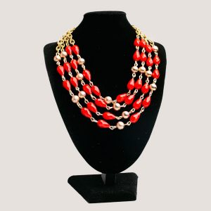 Del Halo Multistrand Beaded Chain Necklace - STL Fashion House