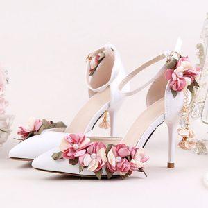 White Chloe Floreo Shoes - STL Fashion House