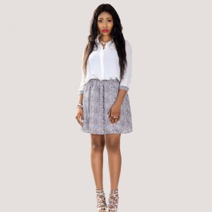STL Fashion House Cherry Melange Shirt Dress