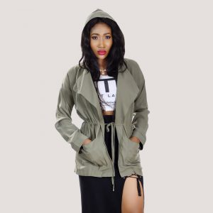 Rebelle Hoodie Jacket - STL Fashion House