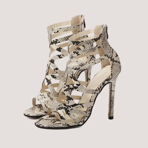 Dream Snakeskin Gladiators - STL Fashion House