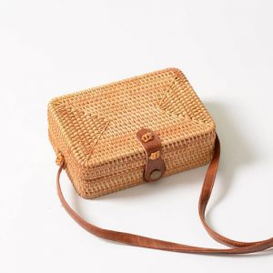 Wicker Straw Box Bag - STL Fashion House