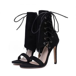Ximena Lace Up High Heels - STL Fashion House