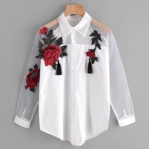 Swirl Embroidered Shirt - STL Fashion House