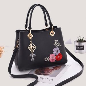 Floral Embroidered Handbag - STL Fashion House