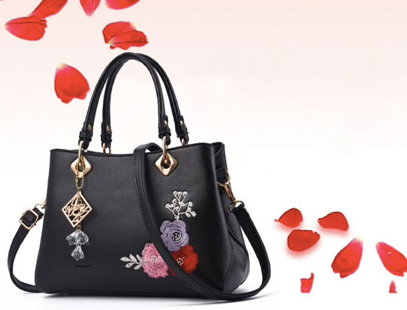 Darci Floral Embroidered Bag - STL Fashion House