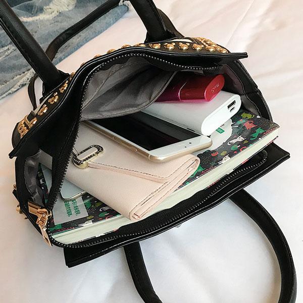 Rivet Studded Handbag - STL Fashion Handbag