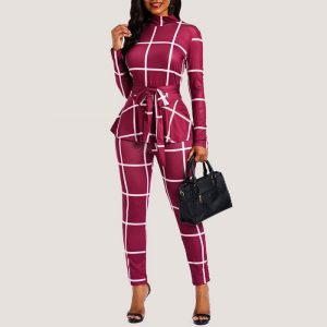 Marlow Plaid Jumpsuit - STL Fashion House