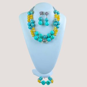 Corels Teal Onyx Bead Jewelry Set - STL Fashion House