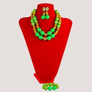 Corels Statement Green Onyx Bead Jewelry Set - STL Fashion House
