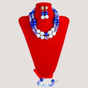 Corels Statement Blue Onyx Bead Jewelry Set - STL Fashion House