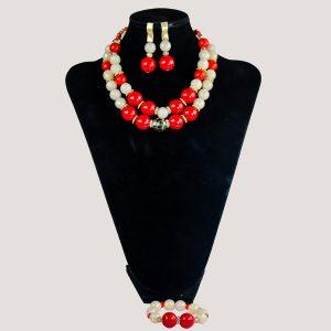 Corels Statement Gemstone Bead Jewelry Set - STL Fashion House