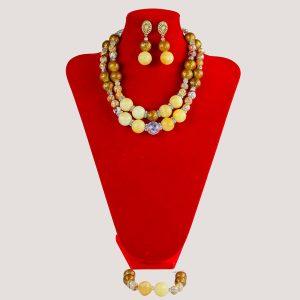 Corels Statement Brown Acrylic Bead Jewelry Set - STL Fashion House