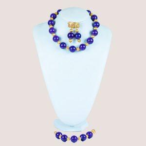 Monica Cirocci Purple Bead Jewelry Set - STL Fashion House