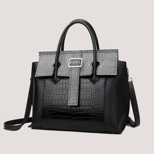 Dynasty Luxury Crocodile Leather Fashion Handbag - STL Fashion House