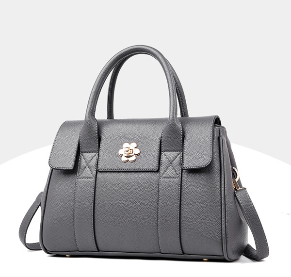 Grey Kloe Calfskin Handbag - STL Fashion House