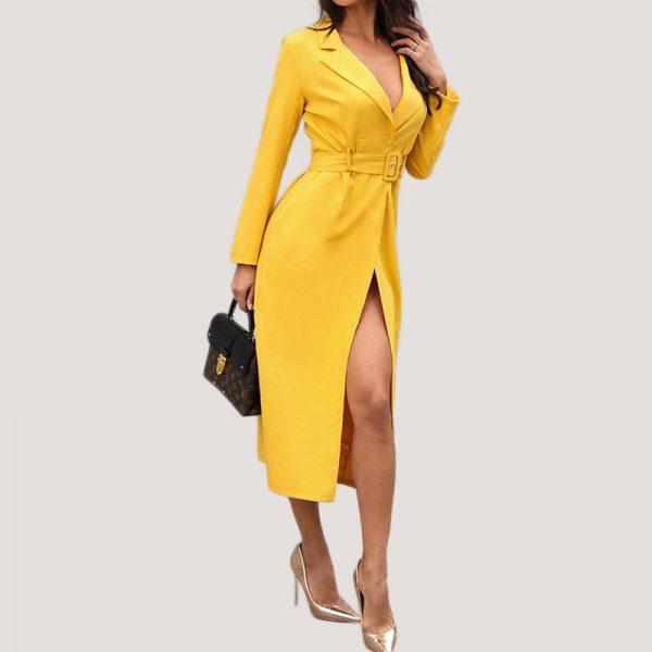 Belted-Slit-Blazer-Dress-11