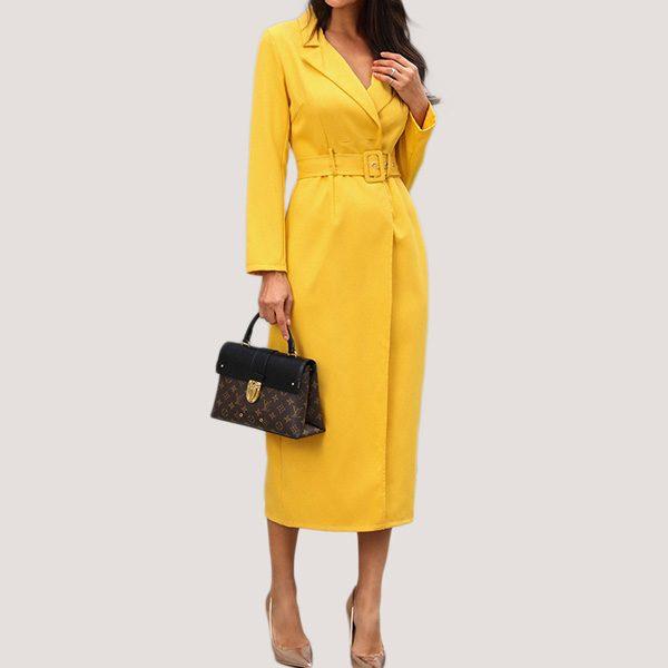 Belted-Slit-Blazer-Dress-12