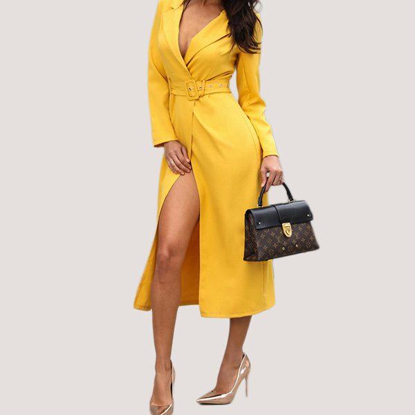 Belted-Slit-Blazer-Dress-13