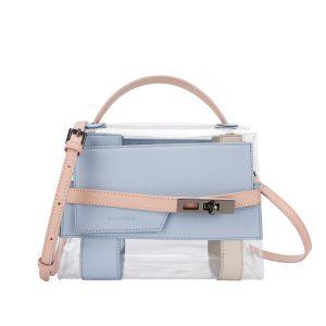 Ellen Clear PVC Bag   Chic Transparent Handbag - STL Fashion House
