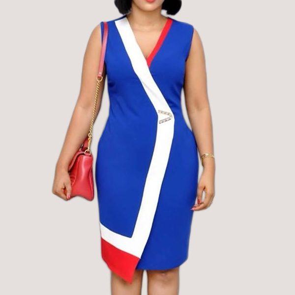 Viena-Colour-Block-Dress-Blue-2