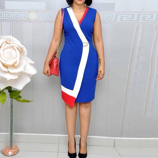 Viena-Colour-Block-Dress-Blue-3