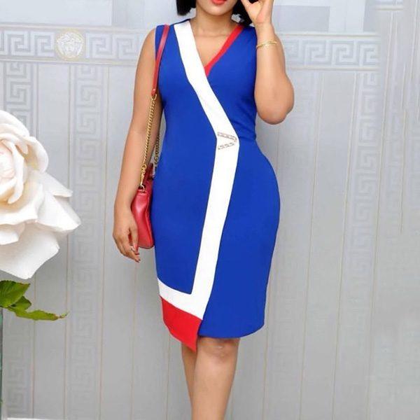 Viena-Colour-Block-Dress-Blue-4