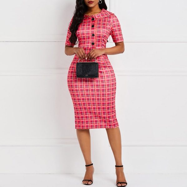 Button-Front-Plaid-Dress-3