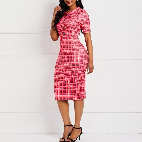 Button-Front-Plaid-Dress-4