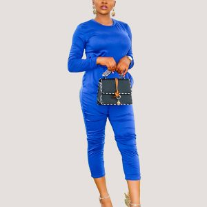 Lana Two Piece Set | Blue Fashion Co-ord Set - STL Fashion House