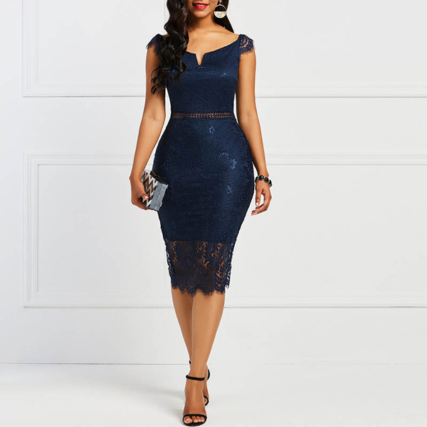 Valencia Lace Dress - STL Fashion House