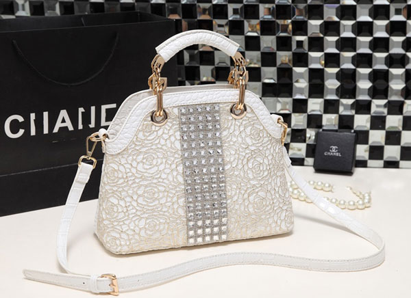 Marcie Gold Lace Rhinestone Bag - STL Fashion House