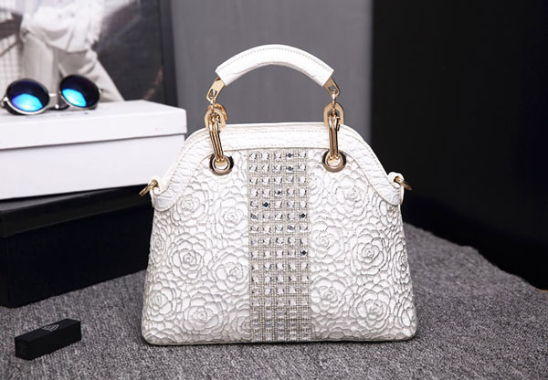 Marcie Silver Rhinestone Bag - STL Fashion House