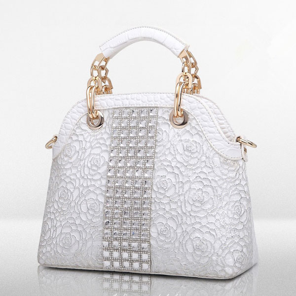 Silver Marcie Rhinestone Bag - STL Fashion House