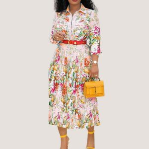 Tulip Floral Midi Dress - STL Fashion House