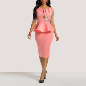 Eva Peplum Cocktail Dress - STL Fashion House