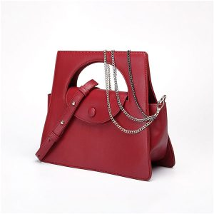Red Jennings Geometric Bag - STL Fashion House