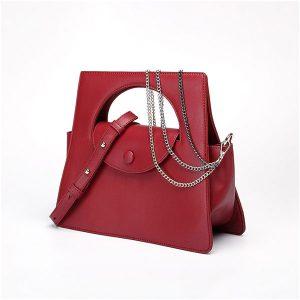 Red Jennings Geometric Bag - STL Fashion House