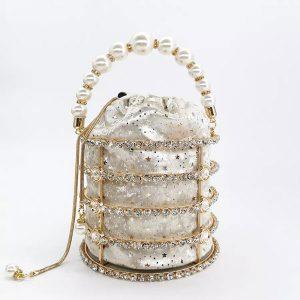 Pearl Rhinestone Luxe Bag - STL Fashion House