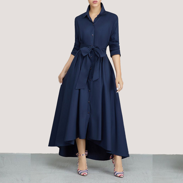 Turndown-Collar-A-Line-Dress-1