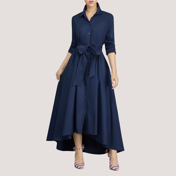 Turndown-Collar-A-Line-Dress-2