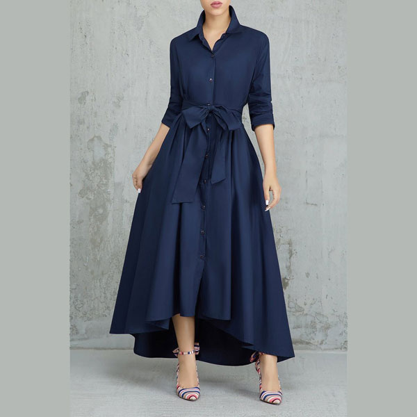 Turndown-Collar-A-Line-Dress-3