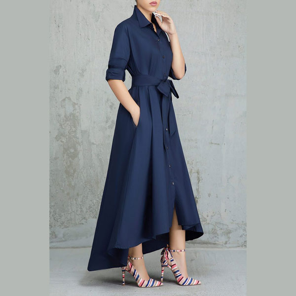 Turndown-Collar-A-Line-Dress-4