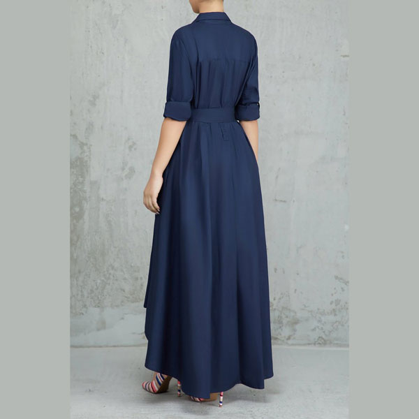 Turndown-Collar-A-Line-Dress-5