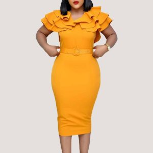 Becca Falbala Dress - STL Fashion House
