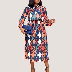 Cinched Waist Midi Dress - STL Fashion House