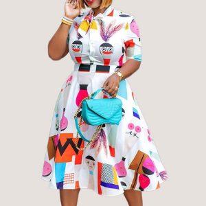 Vineta Short Sleeves Dress - STL Fashion House