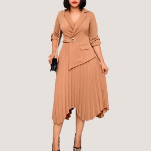 Blazer Pleated Dress - STL Fashion House