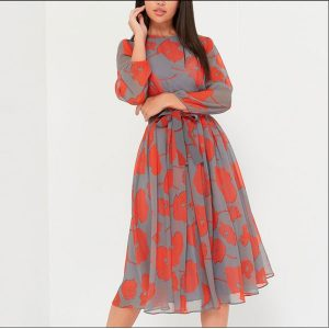 Hana Flare Midi Dress - STL Fashion House