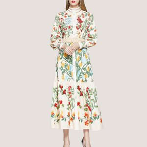 Alyssa Dress with Belt - STL Fashion House